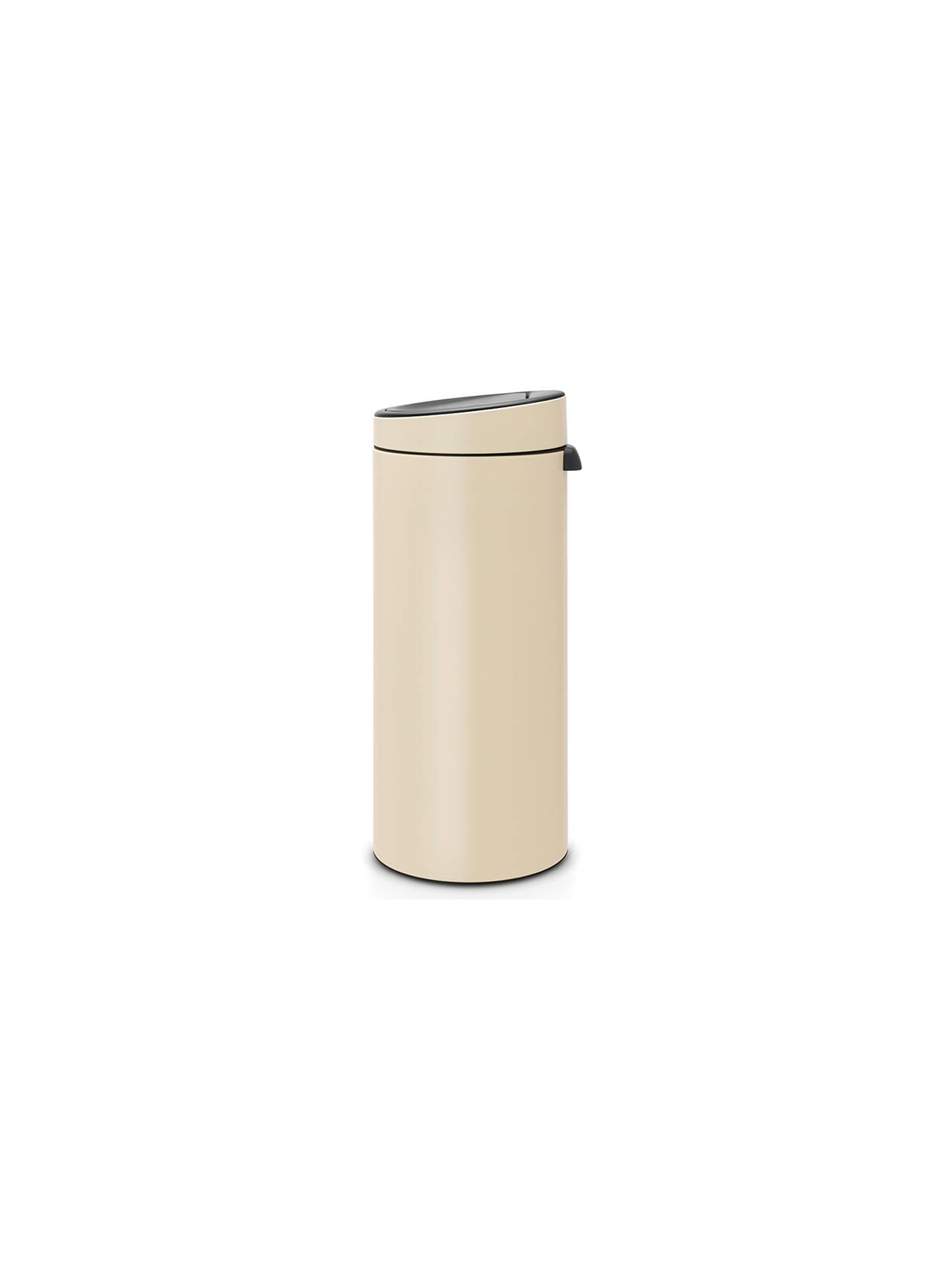 Brabantia Touch Bin 30 L Flat Top.Brabantia Touch Bin 30l Almond