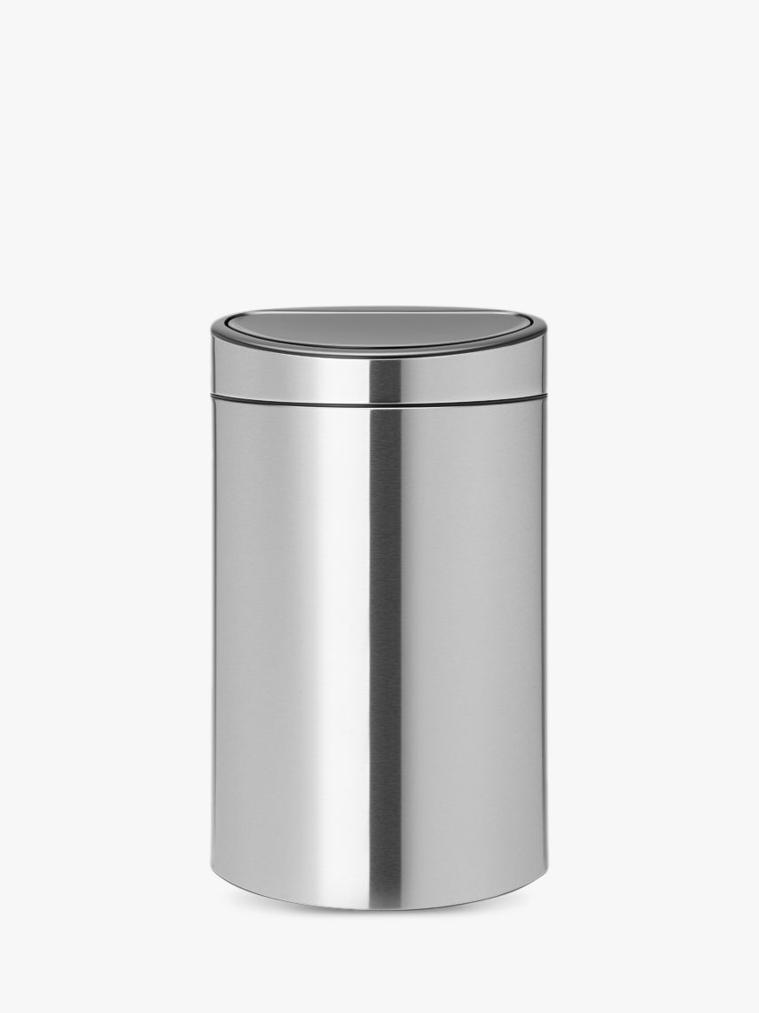 Brabantia Brabantia Twin Touch Recycling Bin, New Matt Steel, 23/10L