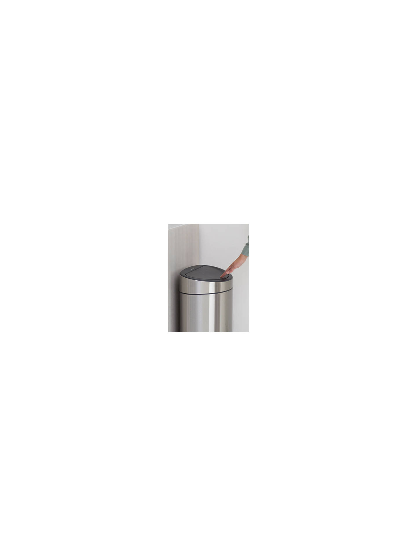 Buy Brabantia Twin Touch Recycling Bin, New Matt Steel, 23/10L Online at johnlewis.com