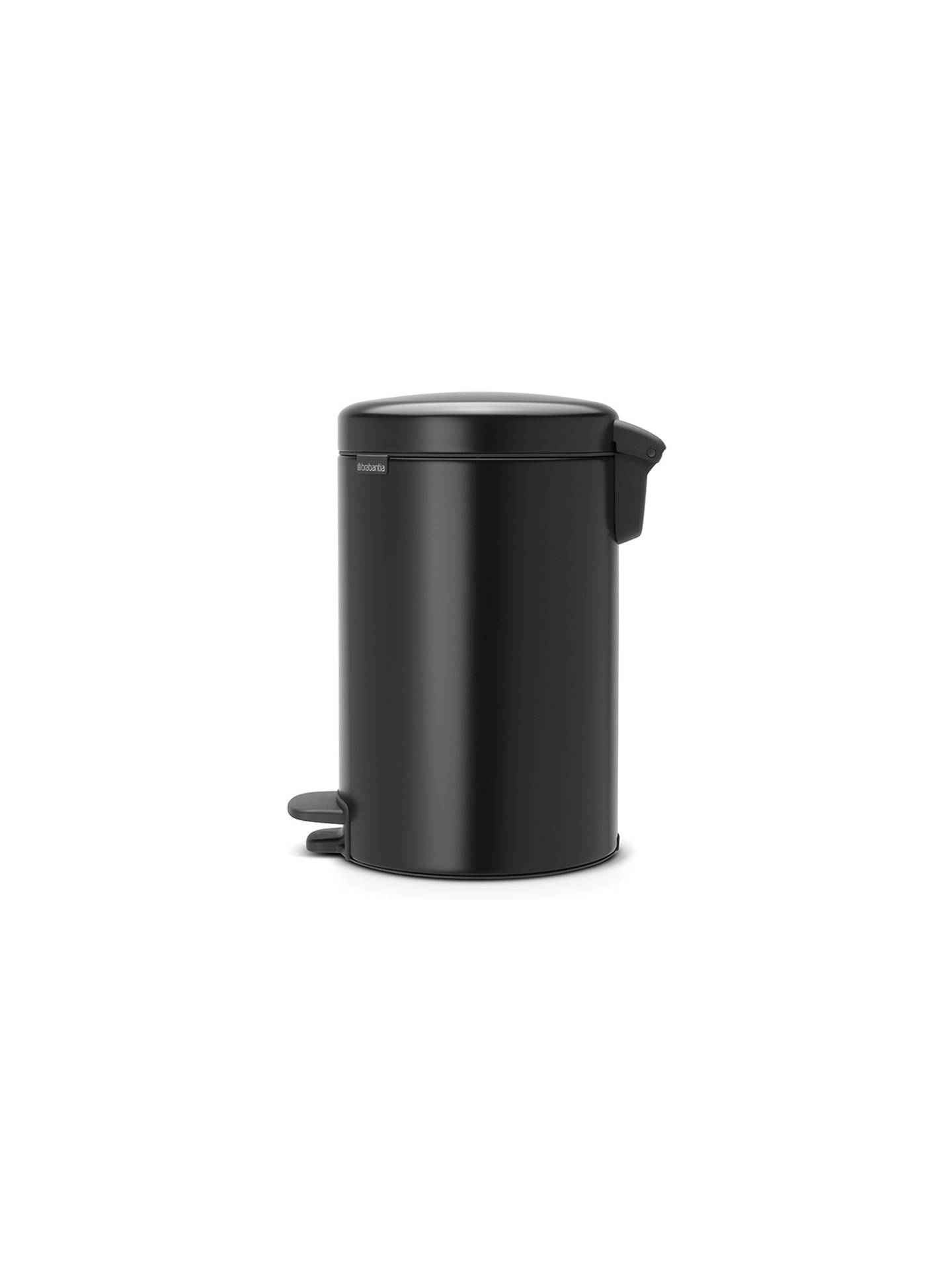 BuyBrabantia newIcon Pedal Bin, 12L, Matt Black Online at johnlewis.com