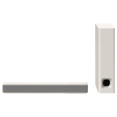 Sony HT-MT301 Bluetooth NFC Compact Sound Bar with Ultra-Slim Wireless Subwoofer, Creme White