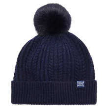 Buy Joules Bobble Lambswool Blend Bobble Hat Online at johnlewis.com