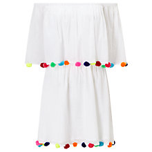 Buy Pitusa Pom Pom Festival Dress, White Online at johnlewis.com