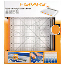 Buy Fiskars Combination Rotary Cutter and Ruler,  12 x 12 Online at johnlewis.com