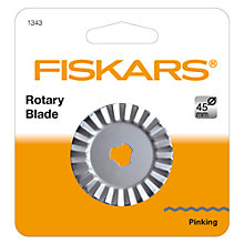 Buy Fiskars Pinking Rotary Blade, 45mm Online at johnlewis.com