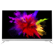 "Buy Philips 55POS901 OLED HDR 4K Ultra HD Smart Android TV, 55"" with Freeview HD & Ambilight 3 Sided, Chrome Online at johnlewis.com"
