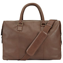 Buy John Lewis Boston Leather Holdall, Chocolate Online at johnlewis.com