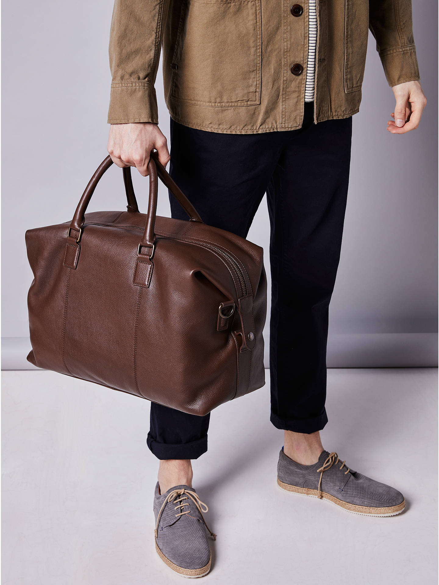 ... BuyJohn Lewis   Partners Boston Leather Holdall d8f37dbfdd79f