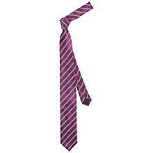 Buy HUGO by Hugo Boss Two Colour Stripe Silk Tie Online at johnlewis.com