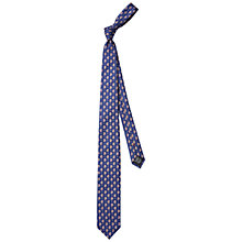 Buy HUGO by Hugo Boss Paisley Woven Silk Tie, Navy Online at johnlewis.com