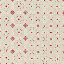 Buy John Lewis Folklore Snowflake PVC Tablecloth Fabric, Red Online at johnlewis.com