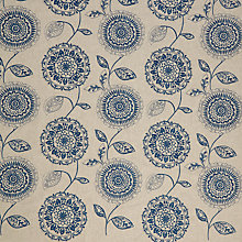 Buy John Lewis Lars Furnishing Fabric, Blue Online at johnlewis.com