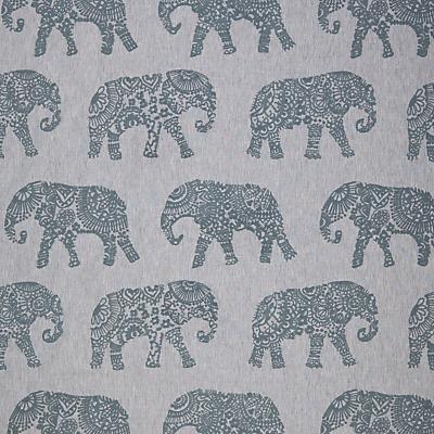 John Lewis & Partners Elephant Embroidery Furnishing Fabric, Blue