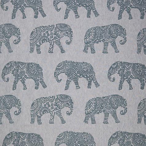 Buy john lewis elephant embroidery furnishing fabric blue for Elephant fabric
