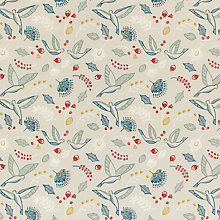Buy John Lewis Folklore Bird PVC Tablecloth Fabric, Multi Online at johnlewis.com