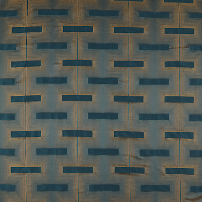 John Lewis & Partners Lawson Furnishing Fabric, Teal / Gold