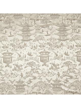 8f3b22d81f4 John Lewis & Partners Oriental Scene Furnishing Fabric, Natural