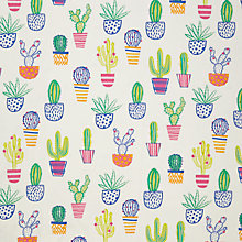 Buy little home at John Lewis Cacti Furnishing Fabric, Multi Online at johnlewis.com