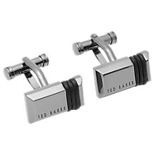 Buy Ted Baker Rolol Leather Wrap Cufflinks, Silver Online at johnlewis.com