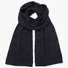 Buy Ted Baker Tescarf Ribbed Scarf, Navy Online at johnlewis.com