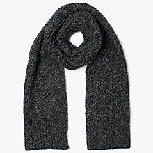 Buy Ted Baker Kapok Cable Knit Scarf, Charcoal Online at johnlewis.com