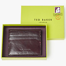 Buy Ted Baker Brights Leather Bifold Card Holder Wallet, Dark Red Online at johnlewis.com