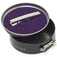 Buy Ted Baker Aerro Corner Detail Tie Bar, Silver Online at johnlewis.com