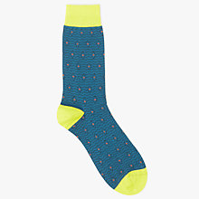 Buy Ted Baker Reveaux Diamond Spot Organic Cotton Blend Socks, One Size, Dark Blue Online at johnlewis.com