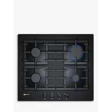 Buy Neff T26CS49S0 Gas Hob, Black Online at johnlewis.com