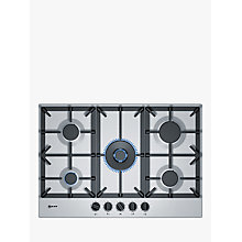 Buy Neff T27DS59N0 Gas Hob, Stainless Steel Online at johnlewis.com