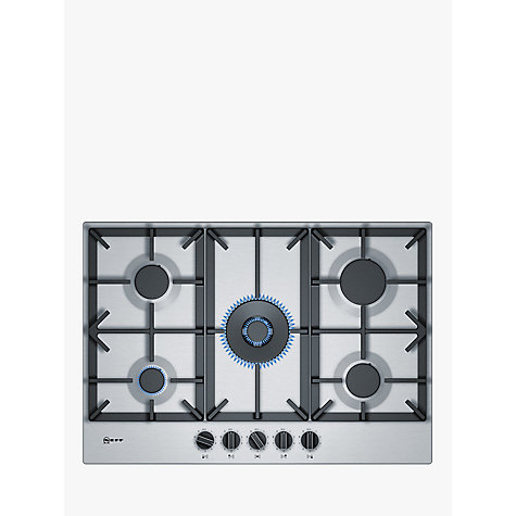 buy neff t27ds59n0 gas hob stainless steel john lewis. Black Bedroom Furniture Sets. Home Design Ideas