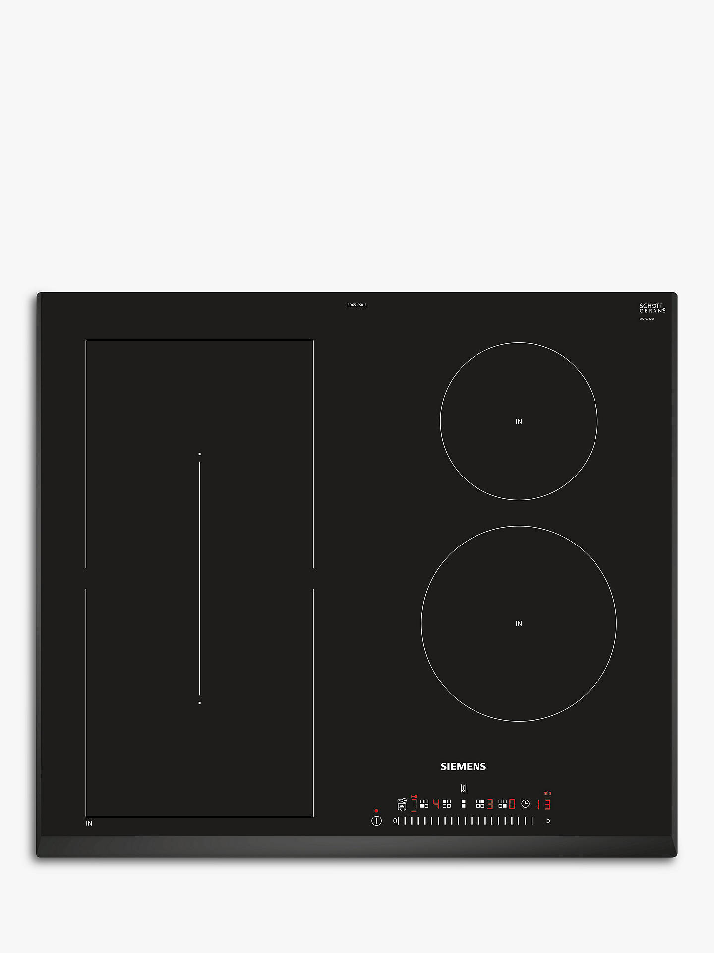 BuySiemens ED651FSB1E Induction Hob, Black Online at johnlewis.com