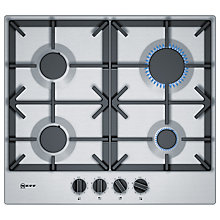 Buy Neff T26DS49N0 Gas Hob, Stainless Steel Online at johnlewis.com