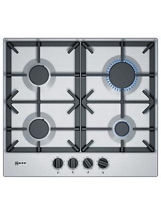 Neff T26DS49N0 Gas Hob, Stainless Steel