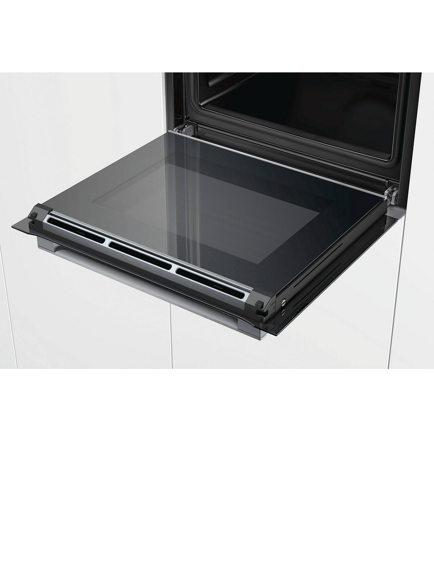 BuyBosch Serie 8 HBG673BS1B Built-In Single Oven, A+ Energy Rating, Brushed Steel Online at johnlewis.com