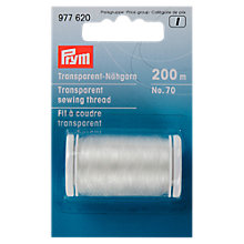 Buy Prym Transparent Thread, 200m, White Online at johnlewis.com