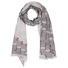 Buy French Connection Dora Checkwave Scarf, Monochrome Online at johnlewis.com