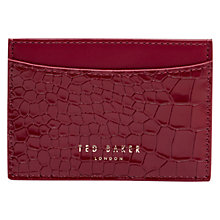 Buy Ted Baker Bindo Leather Credit Card Holder, Red Online at johnlewis.com