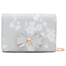 Buy Ted Baker Tie The Knot Ulanna Oriental Blossom Clutch Bag, Light Grey Online at johnlewis.com