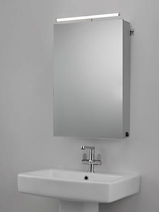 John Lewis & Partners Debut Single Mirrored Illuminated Bathroom Cabinet