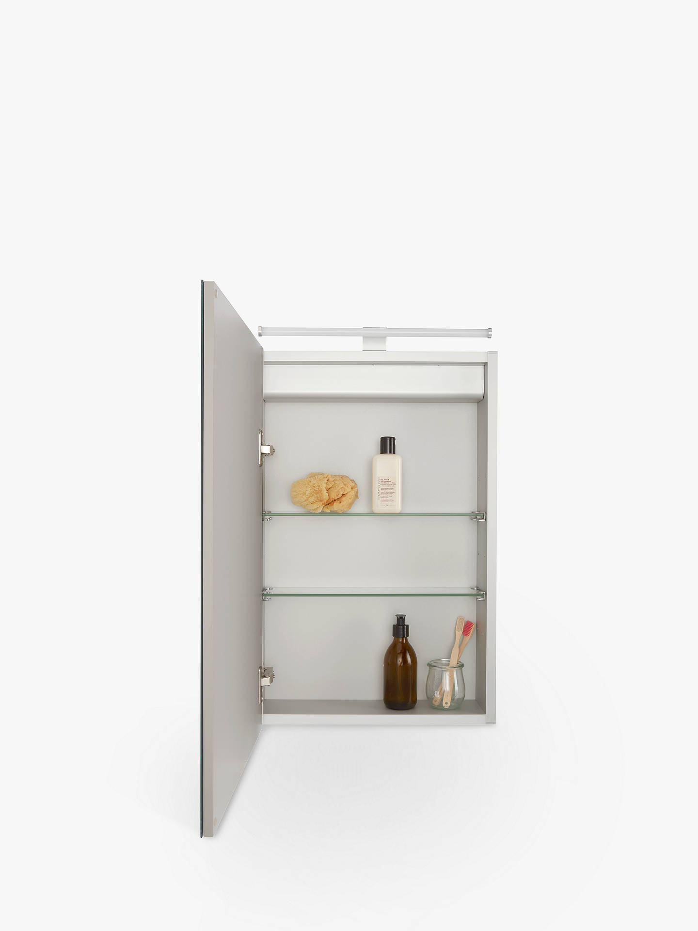 Buy John Lewis & Partners Debut Single Mirrored and Illuminated Bathroom Cabinet Online at johnlewis.com