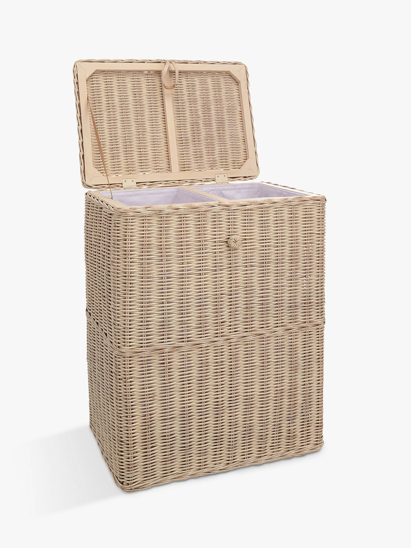 BuyCroft Collection Double Laundry Basket Online at johnlewis.com