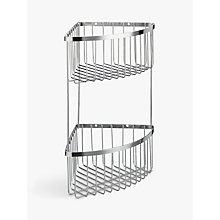 Buy John Lewis Two Tier Stainless Steel Corner Shower Basket, Silver Online at johnlewis.com