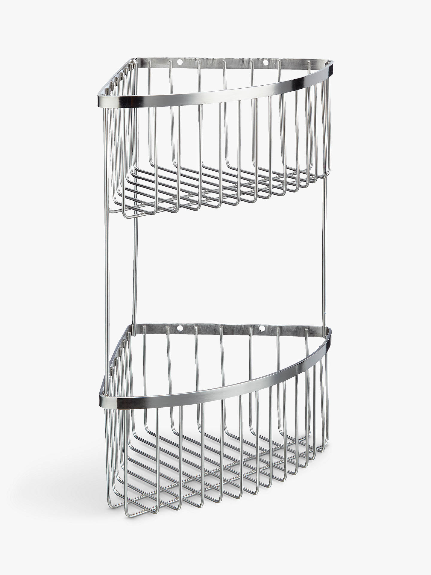 John Lewis & Partners Deep Double Corner Shower Basket at ...