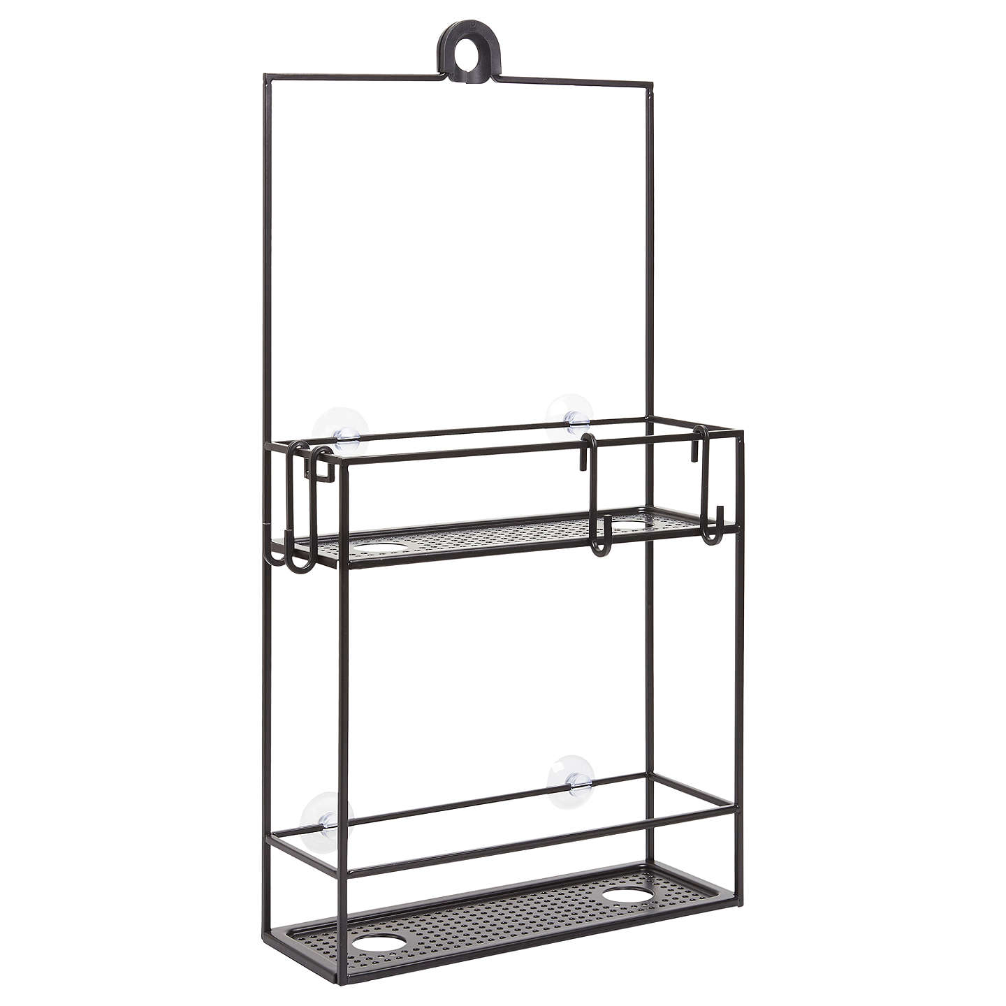 Umbra Cubiko Hanging Shower Storage Caddy, Black at John Lewis