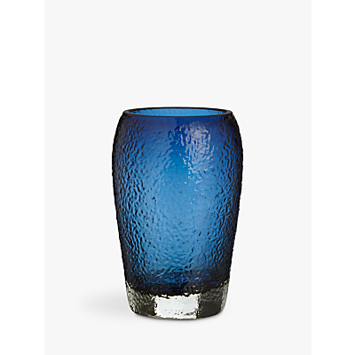John Lewis Glass Tumbler, Dark Nordic Blue