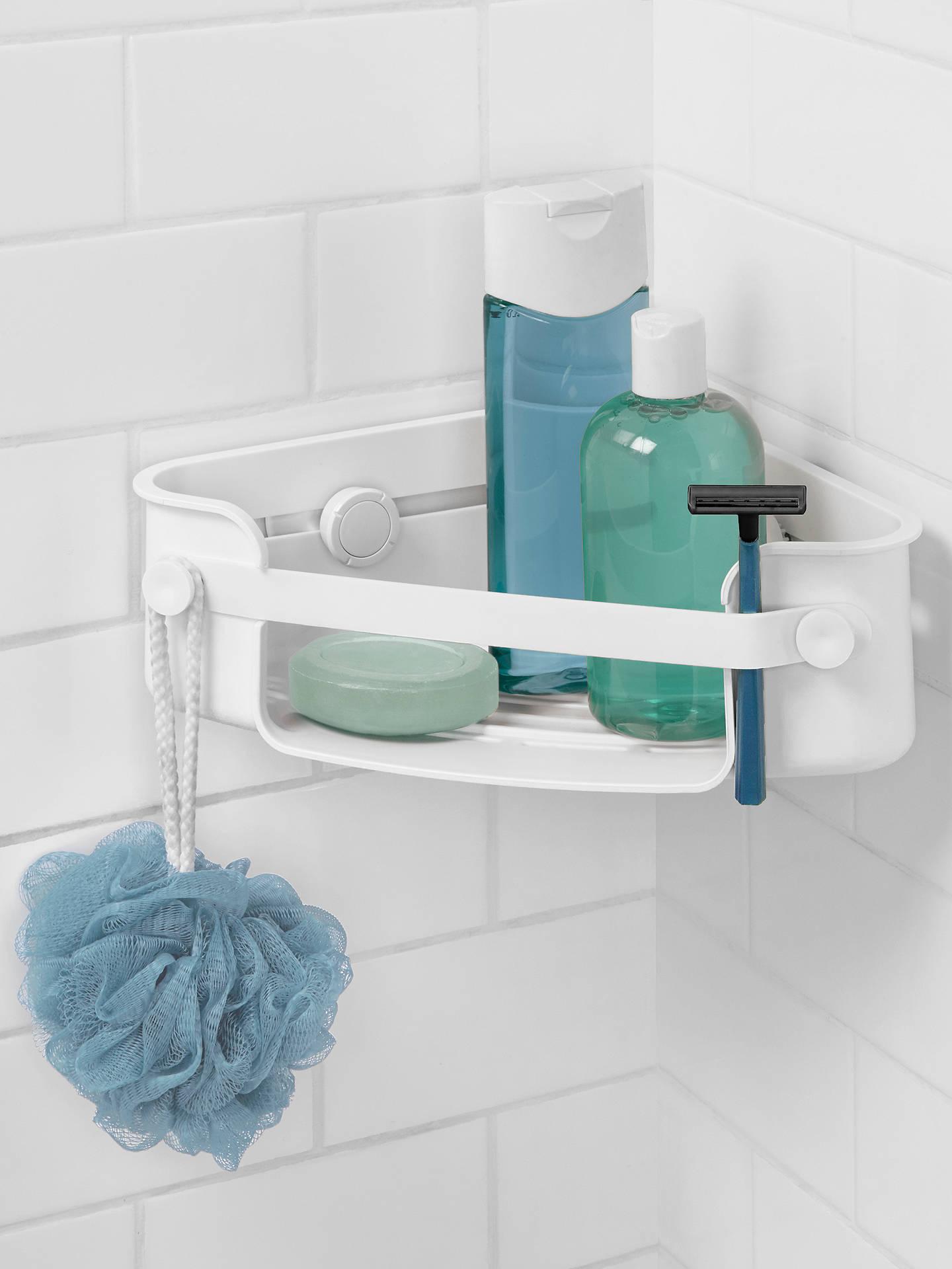 Umbra Flex Gel Lock Corner Shower Basket at John Lewis & Partners
