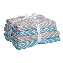 Buy Christy 4 Piece Cotton Jacquard Towel Bale, White Online at johnlewis.com