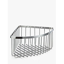 Buy John Lewis Stainless Steel Deep Corner Shower Basket, Silver Online at johnlewis.com