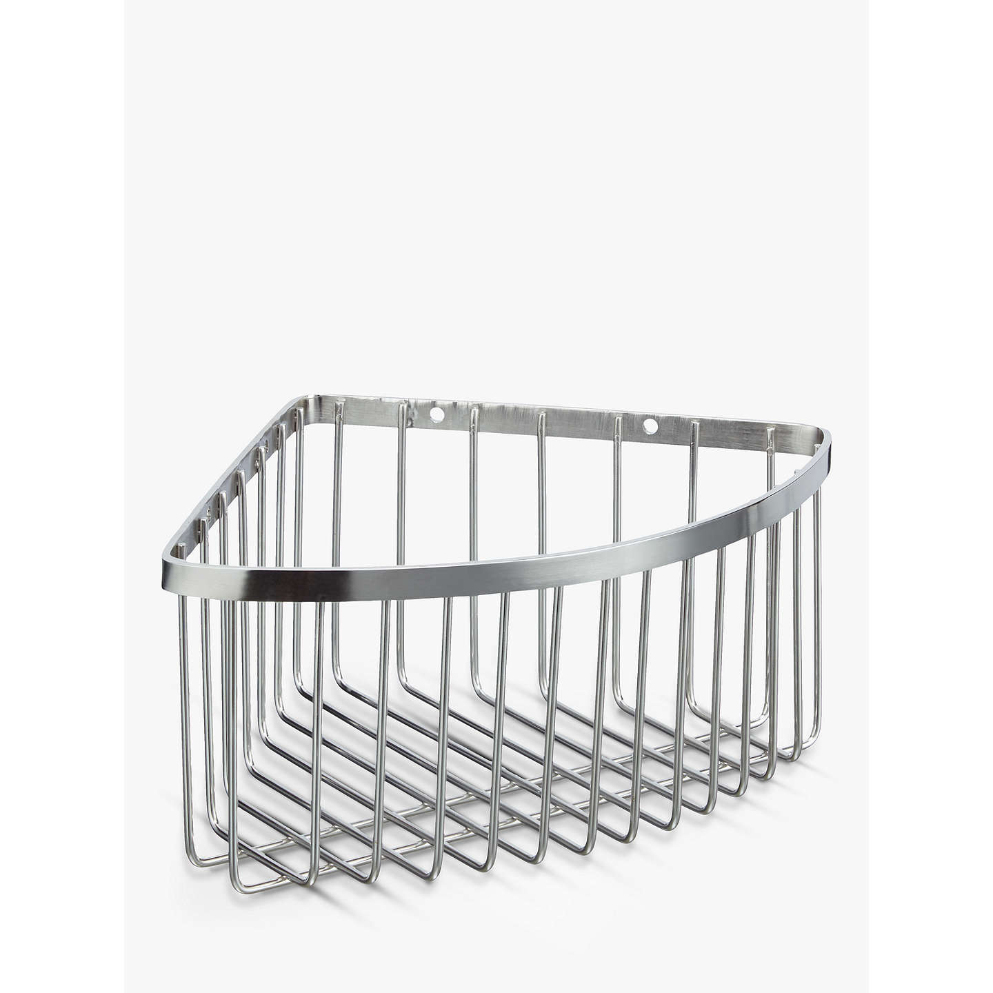 John Lewis Stainless Steel Deep Corner Shower Basket, Silver at John ...